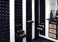 Voorbeeldopstelling CollectionRack voor diverse flesformaten.
