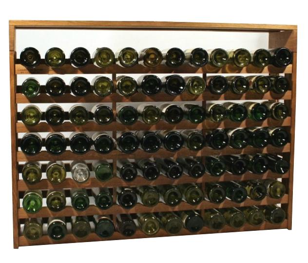 Eiken wijnrek Bas