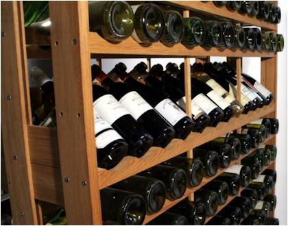 Eiken wijnrekken